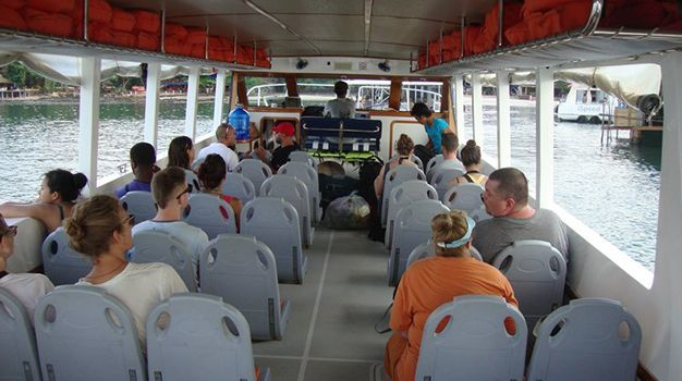 Standard cover photo speed ferry cambodia fastcat with passenger on boat and seat map